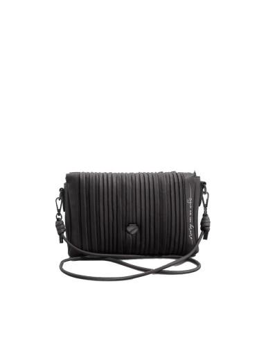 Pochette Le Pandorine con tracolla e zip nera