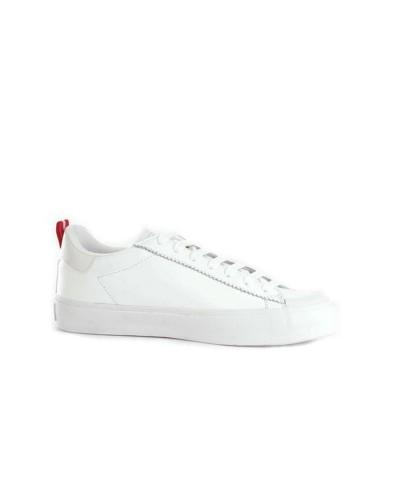 Scarpa Sneakers Guess uomo in vera pelle e logo laterale stampato