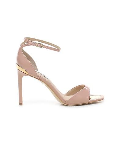 Sandalo Guess donna in vernice con punta quadrata e cinturino alla caviglia