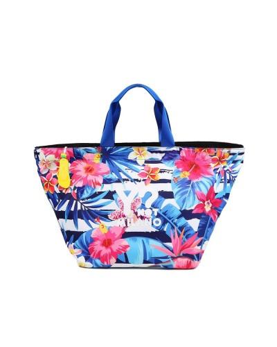 Borsa Shopping Mare Ynot donna con fantasia floreale e chiusura con zip