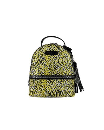 Zaino L atelier du sac donna Marty zebrato giallo piccolo