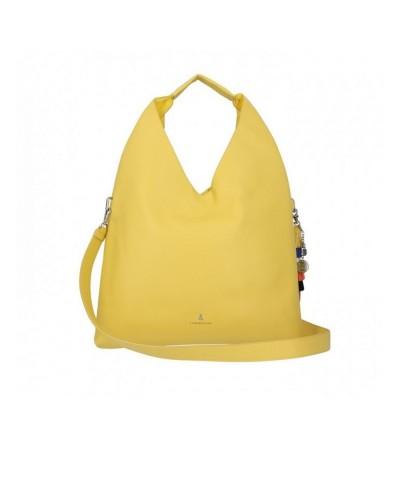 Borsa A Spalla  L atelier du sac donna You and I gialla con tracolla con  pashmina in omaggio