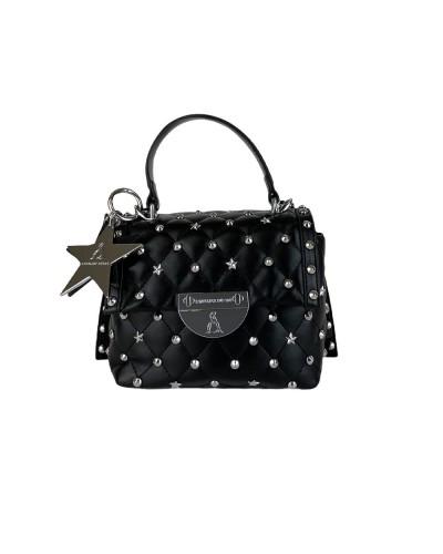Borsa A Mano L atelier du sac donna nera con borchie e stelle con tracolla