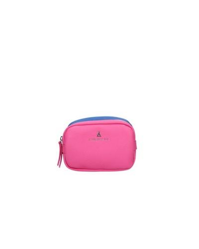 Beauty L atelier du sac donna You and I bicolor blu e fucsia con doppia zip  piccolo