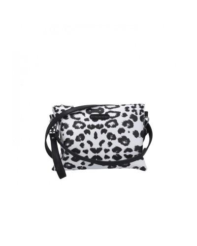 Pochette L atelier du sac donna Spotted animalier bianco e  nero con tracolla