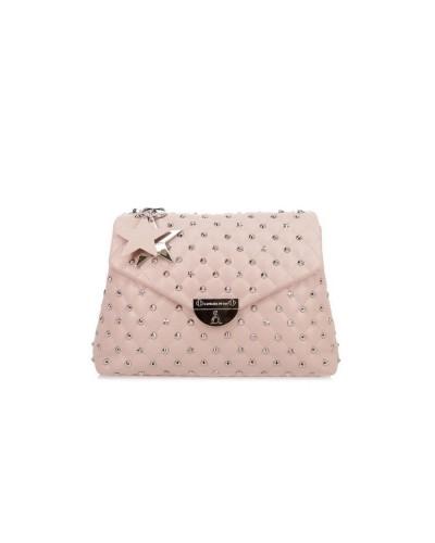 Borsa A Spalla  L atelier du sac donna rosa con borchie e stelle e pashmina in omaggio