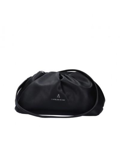 Borsa Clutch L atelier du sac donna Goody nera con tracolla
