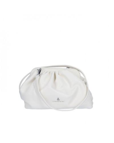 Borsa Clutch L atelier du sac donna Goody bianca con tracolla