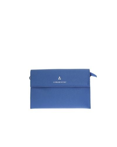 Pochette L atelier du sac donna You and I blu piccola con tracolla e polsiera