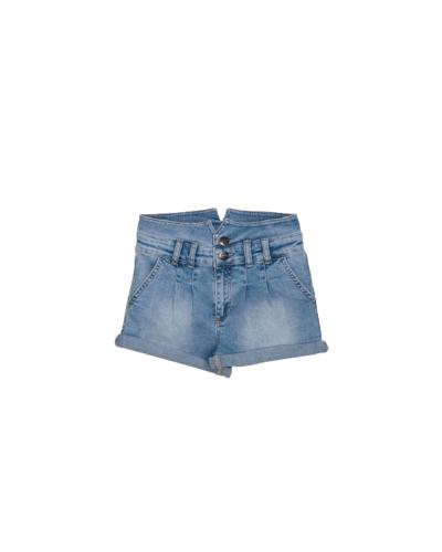 Shorts Liu-Jo Me contro Te bambina in jeans con strass