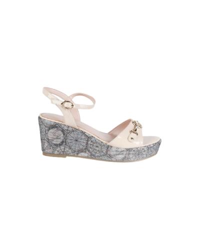 Sandalo Gattinoni Roma con suola decorata e cinturino alla caviglia