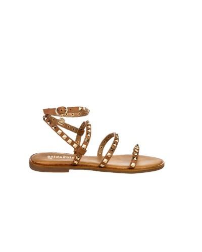 Sandalo Gold&Gold donna con chiusura alla caviglia e borchie