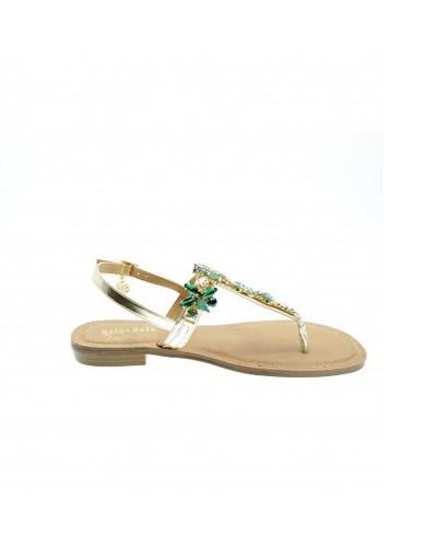 Sandalo Infradito Gol&Gold donna con swaroski