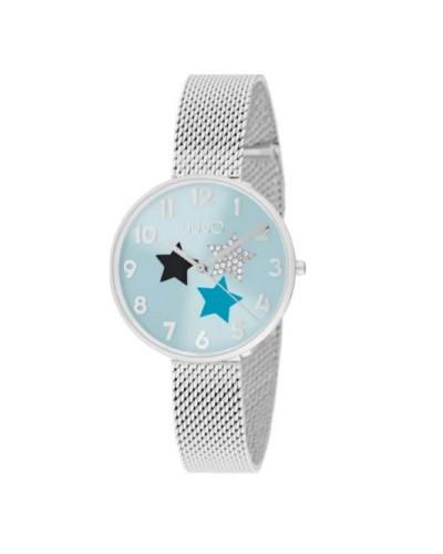 Orologio Liu Jo donna con quadrante celeste con stelle in acciaio