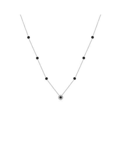 Collana Brand donna con sette pendenti smaltati con cristalli