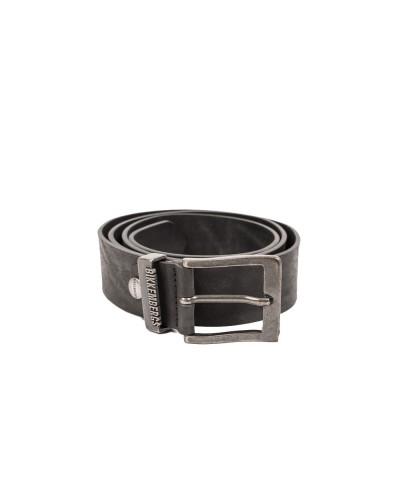 Cintura Bikkemergs uomo nera con logo rialzato sul passante