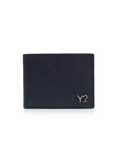 Portafoglio YNot? Wallet Flap Coin Small Uomo BIZNA06 Navy Green