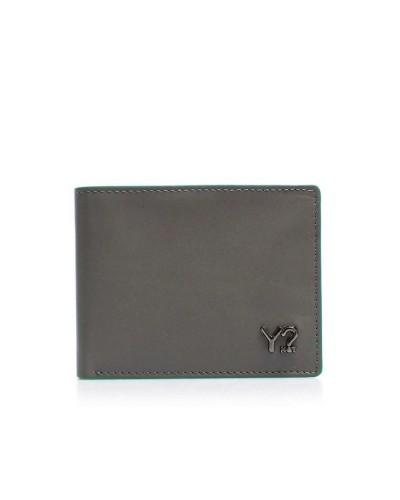 Portafoglio YNot? Wallet Flap Coin Small Uomo BIZNA06 Grey Green