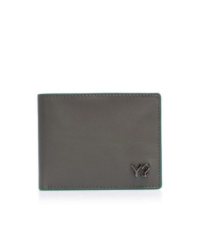 Portfolio YNot? Wallet Flap Coin Small Man BIZNA06 Grey Green