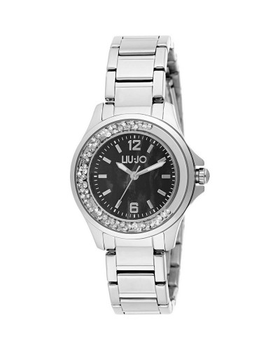 Watch Woman Dancing Silver Black mother-of-Pearl TLJ1214 Liu Jo Luxury