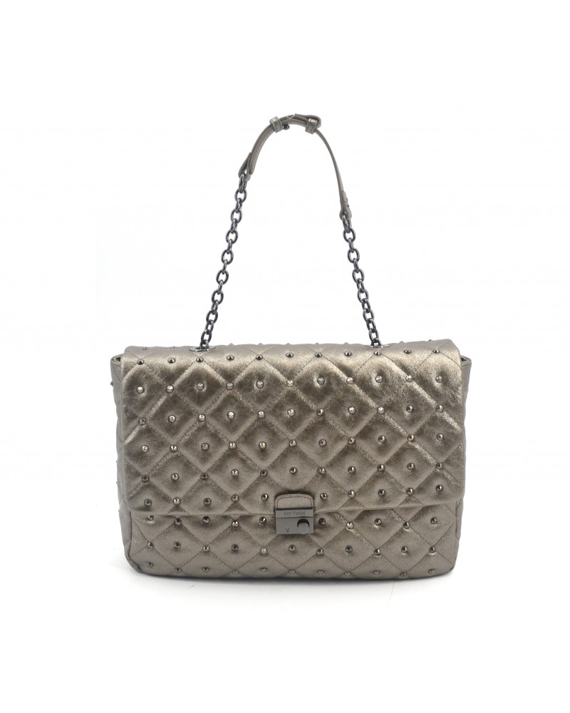 My Twin by Twin Set Borsa a Tracolla Gra