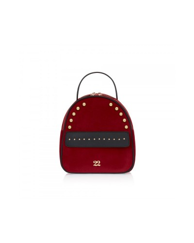 Numeroventidue Monkey Backpack Body Velvet Bordeaux