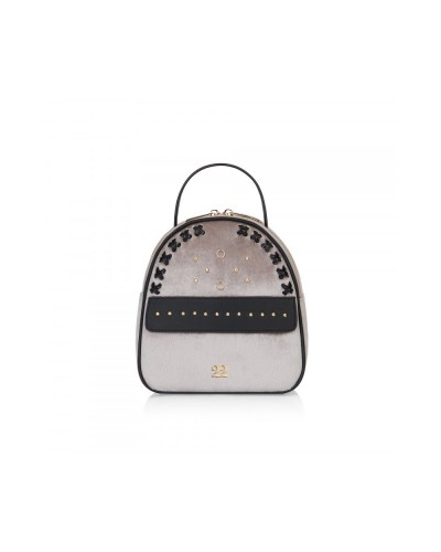 Numeroventidue Monkey Backpack Body Velvet Light Grey