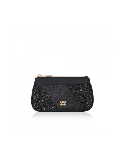 Numeroventidue Monkey Backpack Clutch Bag Glitter Black