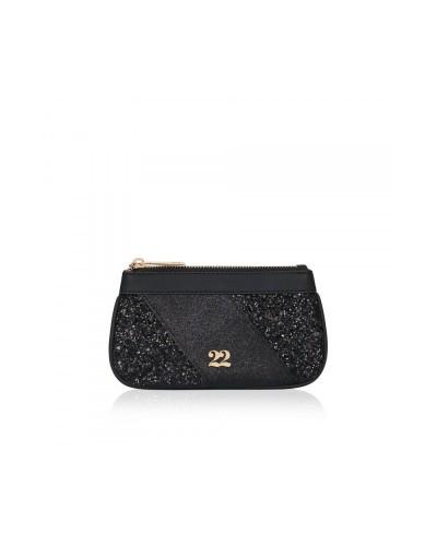 Numeroventidue Monkey Backpack Pochette Glitter Black