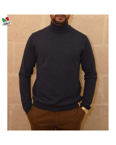 Alviero Martini man Sweater Turtleneck Blue Top